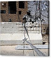 Airman Stands Post To The Entry Control Acrylic Print by Stocktrek Images
