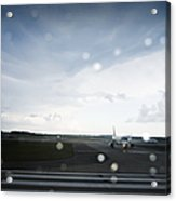 Airplane On Runway Acrylic Print by Shannon Fagan