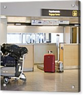 Airport Baggage Area Acrylic Print by Jaak Nilson