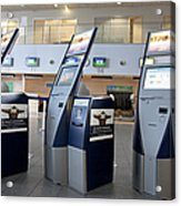 Airport Check In Terminals Acrylic Print by Jaak Nilson