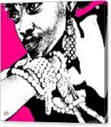 Aisha Pink Acrylic Print by Naxart Studio