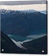 Alaska Coastal Serenity Acrylic Print by Mike Reid