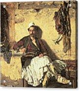 Albanian Sentinel Resting Acrylic Print by Paul Jovanovic