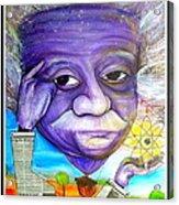 Albert Thinks Acrylic Print by Jose J Montee Montejano