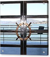 Alcatraz Island The Doors Of The Maritime Museum In San Francisco California . 7d14086 Acrylic Print by Wingsdomain Art and Photography