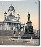 Alexander II Memorial At Senate Square In Helsinki Finland Acrylic Print by International  Images
