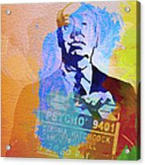 Alfred Hitchcock Acrylic Print by Naxart Studio