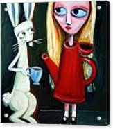 Alice A Tea Pot Acrylic Print by Leanne Wilkes