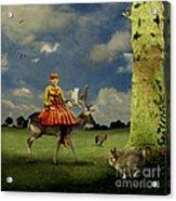 Alice Acrylic Print by Martine Roch