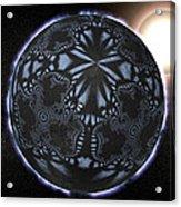 Alien Patterns On A Neutron Star, Artwork Acrylic Print by Christian Darkin