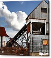 Alive And Well In America . The Old Industrial Sand Plant In Berkeley California . 7d13952 Acrylic Print by Wingsdomain Art and Photography