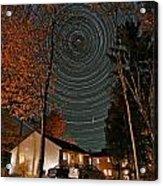 All Night Star Trails Acrylic Print by Larry Landolfi