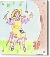 Along Came A Spider Little Miss Muffet Acrylic Print by Marybeth Friel-Patton