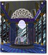 Alpen Temple Acrylic Print by Christopher Lynch