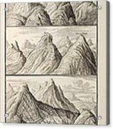 Alpine Geology Flood Evidence Scheuchzer. Acrylic Print by Paul D Stewart
