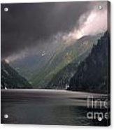 Alpine Lake With Sunlight Acrylic Print by Mats Silvan