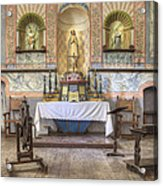 Altar At Mission La Purisima State Acrylic Print by Douglas Orton