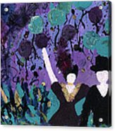 Althea Dances With Ned Acrylic Print by Annette McElhiney