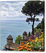 Amalfi Coast Spring Vista Acrylic Print by George Oze