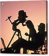 Amateur Astronomers With Meade 2080 20cm Telescope Acrylic Print by John Sanford