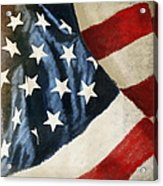 America Flag Acrylic Print by Setsiri Silapasuwanchai