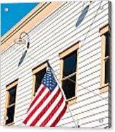 American Flag Acrylic Print by Tom Gowanlock