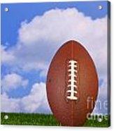 American Football Tee'd Up Acrylic Print by Richard Thomas