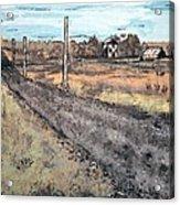 Americana No.6 Rural Road No.2 Acrylic Print by Sheri Parris