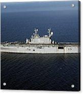 Amphibious Assault Ship Uss Peleliu Acrylic Print by Stocktrek Images