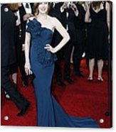 Amy Adams Wearing A Marchesa Gown Acrylic Print by Everett