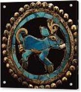 An Ancient Moche Indian Ear Ornament Acrylic Print by Bill Ballenberg