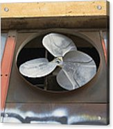 An Exhaust Fan At A Ventilation Outlet Acrylic Print by Nathan Griffith