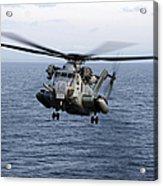 An Mh-53e Sea Dragon In Flight Acrylic Print by Stocktrek Images