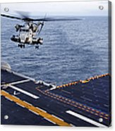 An Mh-53e Sea Dragon Prepares To Land Acrylic Print by Stocktrek Images