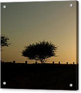 And The Day Ends Quietly.. Acrylic Print by Saurabh Shenai