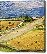 Andalusia Countryside Panorama Acrylic Print by Artur Bogacki
