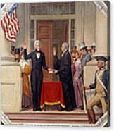 Andrew Jackson At The First Capitol Inauguration - C 1829 Acrylic Print by International  Images