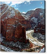Angels Landing View From Top Acrylic Print by Daniel Osterkamp