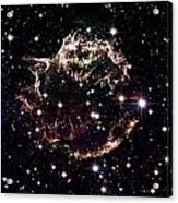 Animation Of A Supernova Explosion Acrylic Print by Harvey Richer
