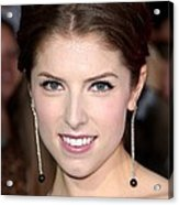 Anna Kendrick Wearing Neil Lane Acrylic Print by Everett