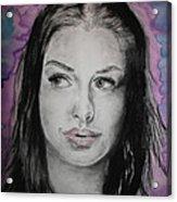 Anne Hathaway Acrylic Print by Ashley Henry