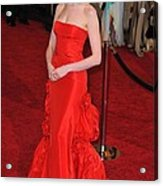Anne Hathaway Wearing Valentino Dress Acrylic Print by Everett