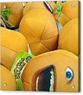 Annoying Orange Acrylic Print by John Velasquez