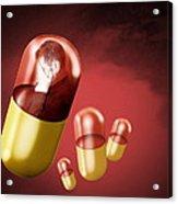 Antidepressant Medication Acrylic Print by Victor Habbick Visions