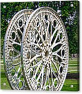 Antique Paddle Wheel University Of Alabama Birmingham Acrylic Print by Kathy Clark