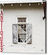 Antique Store Facade Acrylic Print by Jeremy Woodhouse