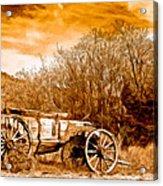Antique Wagon Acrylic Print by Bob and Nadine Johnston