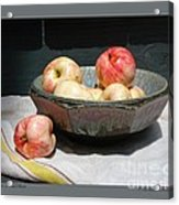 Apples In An Aerni Bowl Acrylic Print by Patricia Overmoyer