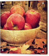 Apples Acrylic Print by Kathy Jennings
