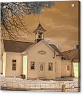 Arcola Illinois School Acrylic Print by Jane Linders